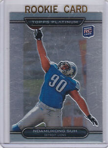 Ndamukong-Suh-RC-2010-Topps-Platinum-LIONS-ROOKIE-CARD-Detroit-Football-LE
