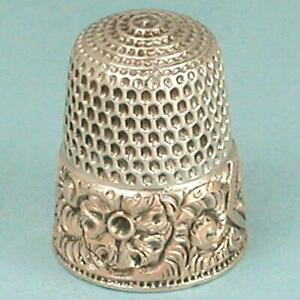 Antique-Gold-Band-Sterling-Silver-Thimble-by-Simons-Bros-Circa-1890s
