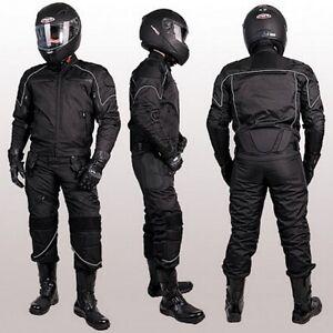 NEUE-MOTORRADKOMBI-JACKE-und-HOSE-TEXTILKOMBI-HERAUSNEHMBARE-PROTEKTOREN