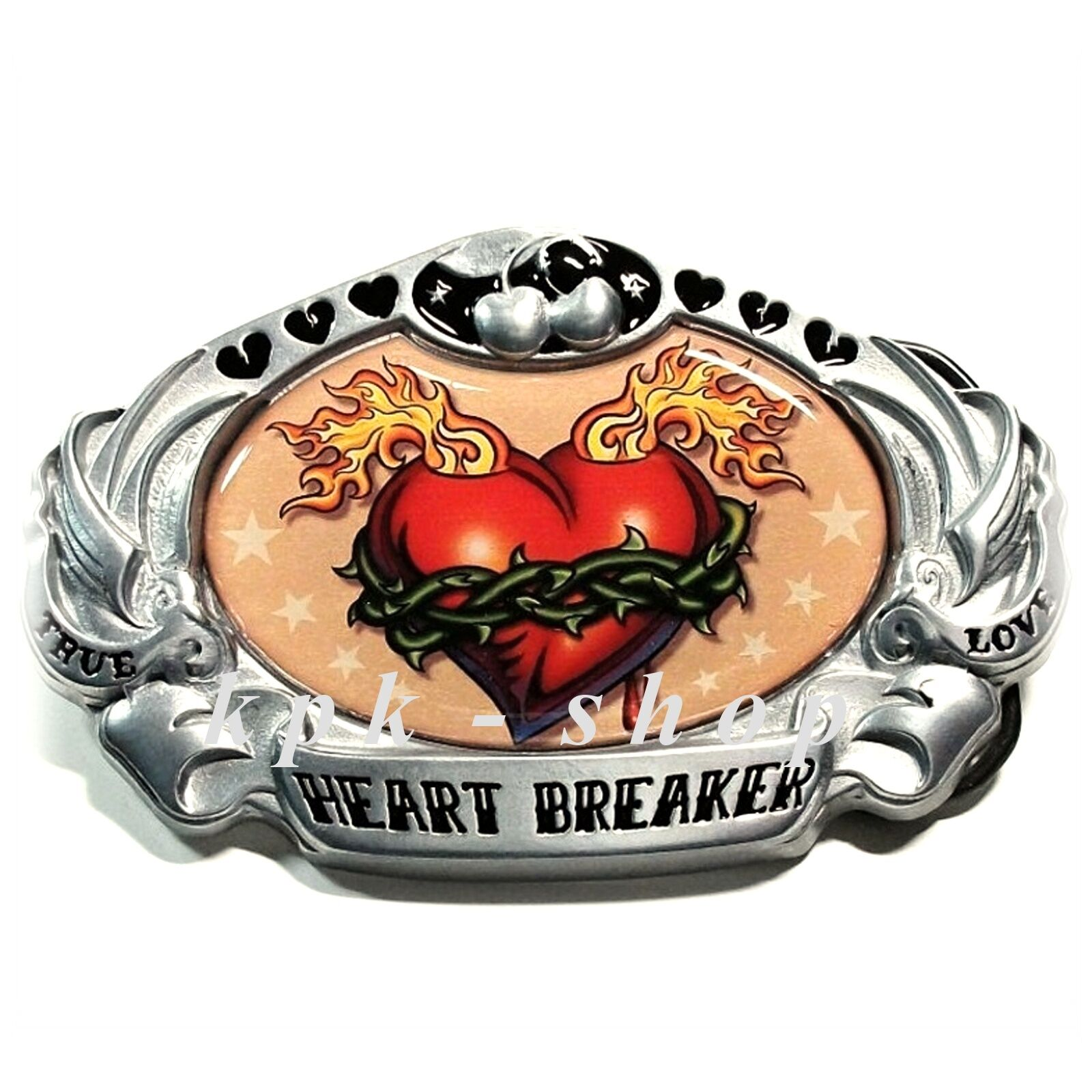 002 Gürtelschnalle Heart Breaker Buckle Buckles Wechselgürtel Biker