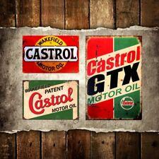 VINTAGE STYLE METAL ADVERTISING SIGN GARAGE WALL PLAQUE * CASTROL GTX MOTOR OIL*