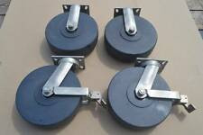 4 New Rwm S75 Stainless Steel Swivel Casters 2 X 10 With Brake