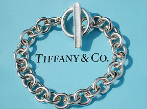 a62539e85 Tiffany & Co 1837 Sterling Silver Toggle Charm Bracelet 8 Inch | eBay