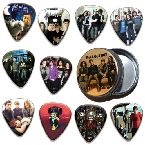 Fall Out Boy 10 X Plectrums /& Tin Guitar Picks Limited To 100
