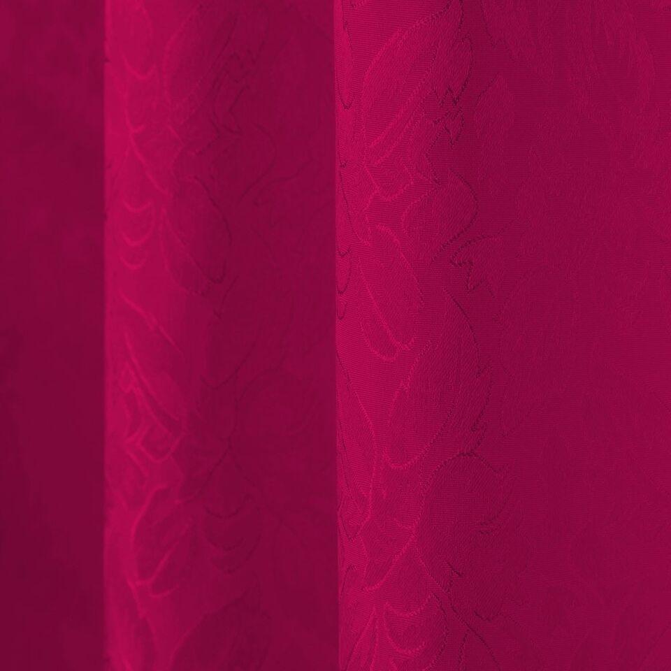 Gardin med løkker rød