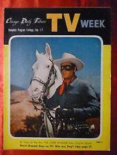February 1 TV WEEK guide 1958 CHICAGO TRIBUNE 25th Anniversary LONE RANGER Elvis