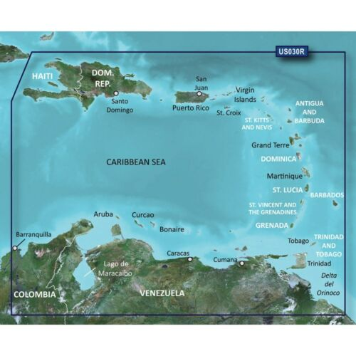 G2 Vision Bluechart  Southeast Caribbean for Garmin 2015