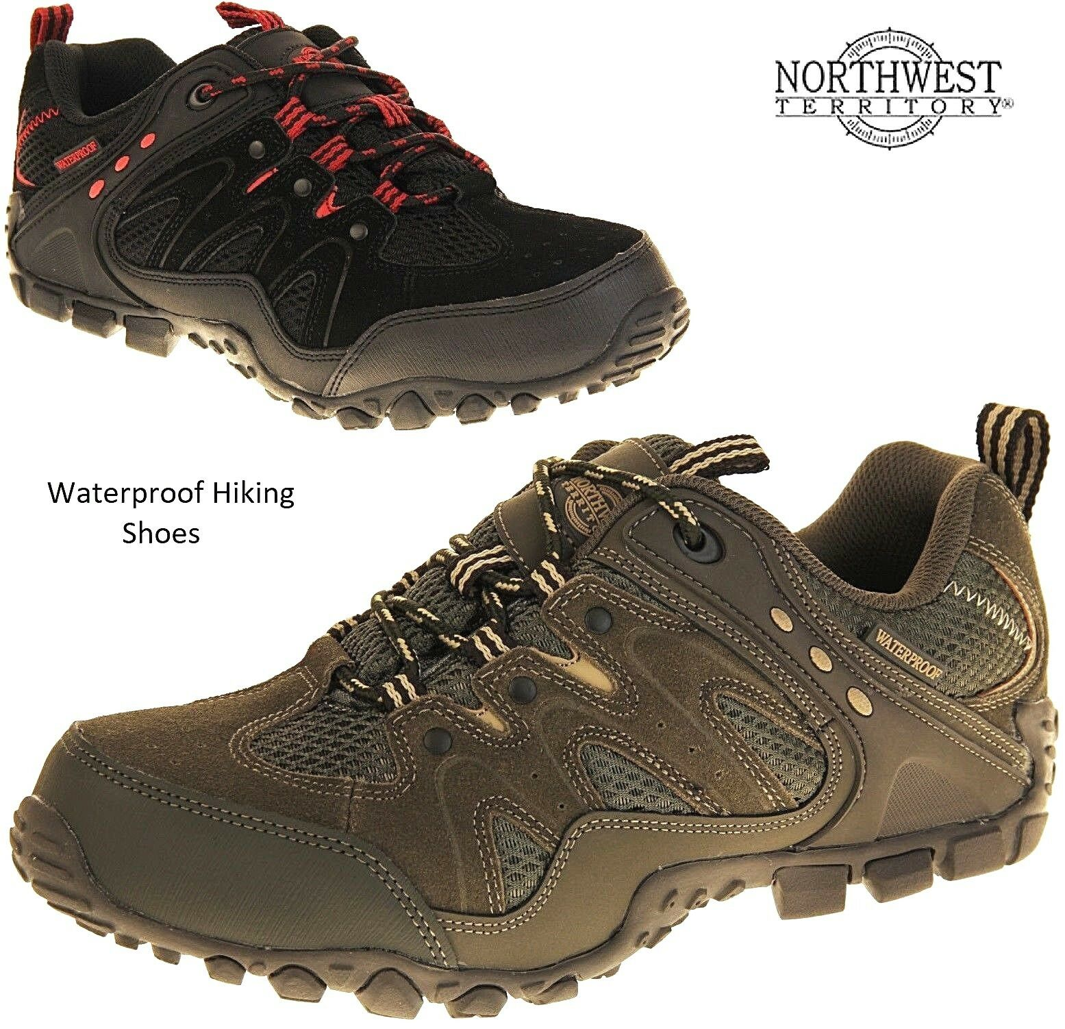 c52d501f72ab Northwest Mens Waterproof Leather Hiking Walking Trail BootsTrainer shoes  Size