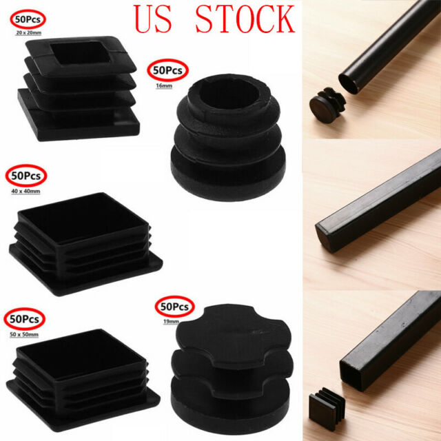50 Furniture Leg Tip Pads Table Chair Foot Stopper End Cap Floor Protector Cover