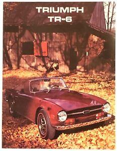 Details about Mint! 1969 Triumph TR6 Sales Brochure