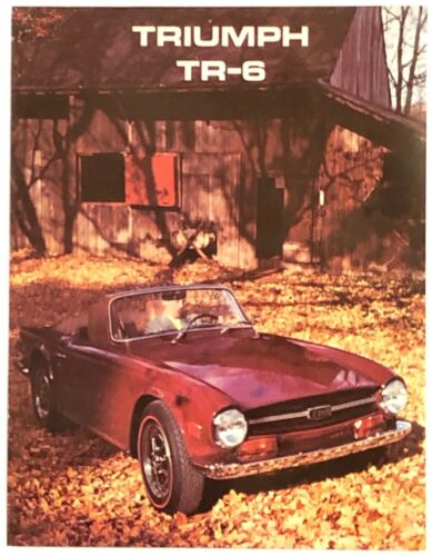 Mint 1969 Triumph TR6 Sales Brochure