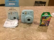 NEW Fujifilm Instax Mini 8 Instant Camera Blue Ships From USA