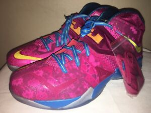 best sneakers eeafd 8d544 Image is loading Nike-LeBron-James-Zoom-Soldier-VII-Bronny-amp-