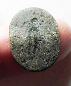 200-300 A.d Ancient Roman Bronze Ring Bezel Zurqieh-as9455
