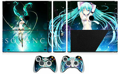 Miku 232 Vinyl Cover Decal Skin Sticker for Xbox360 Slim E and 2 controller skin
