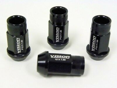 20PC ACURA TSX NSX RDX TL RACING LUG NUTS 12X1.5 BLACK