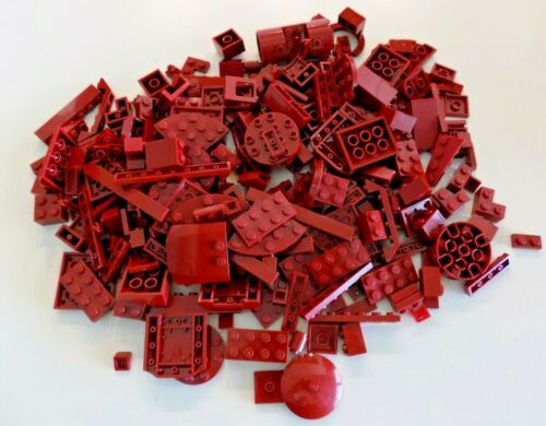 Authentic Lego 1//2 Pound Mixed Lot ~ Dark Brick Red Bricks Plates /& Parts