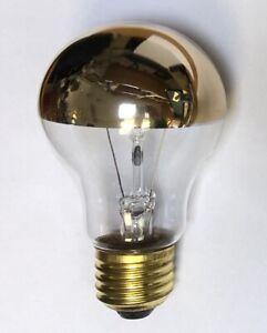 Nueva bombilla kuppenverspiegelte oro Decor 100w e27 230v lámpara incandescente 60 x 105