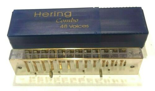 Fix Hohner 270 or Hering 48 Chromatic Harmonica w//Reedplate//Comb 7148 Combo in F