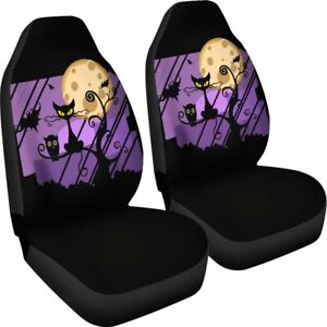 Fabulous Details About Halloween Cat Cover Set Of 2 Universal Front Seat Covers Protection Decoration Ocoug Best Dining Table And Chair Ideas Images Ocougorg