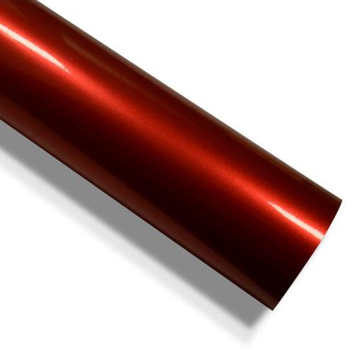 Auto Folie Hochglanz Metallic Rot 400cm x 152cm mit Luftkanäle