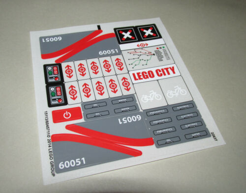 New Original Unused Sticker Sheets from Lego City Trains Theme READ DESCRIPTION