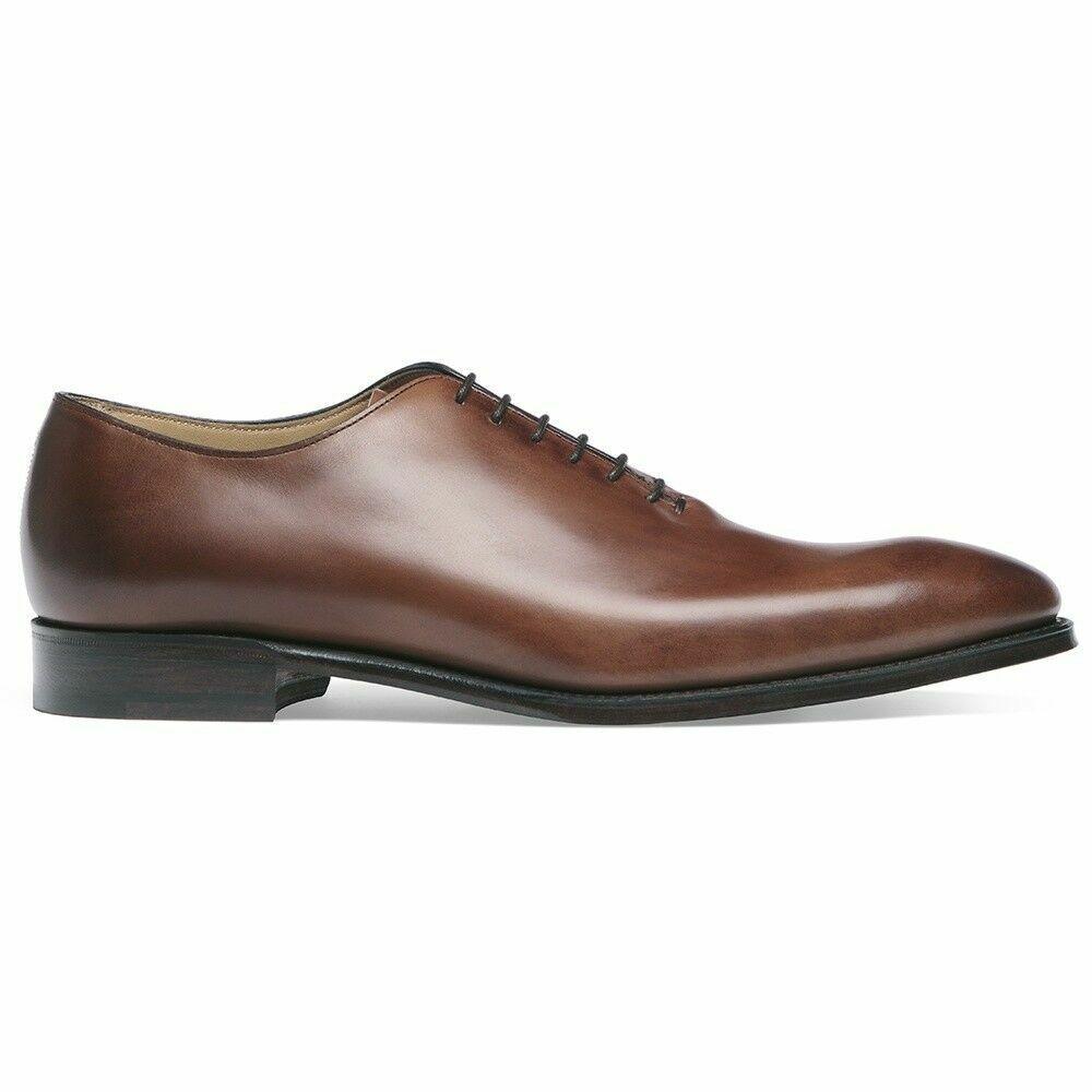 Scarpe fatte a mano Due Tone Marronee Leather  - Suede Toe Cap Lace Up Formal Wear  Felice shopping