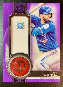 2017 Topps Tribute Stamp of Approval JOSE BAUTISTA Jersey Patch Relic SP /50