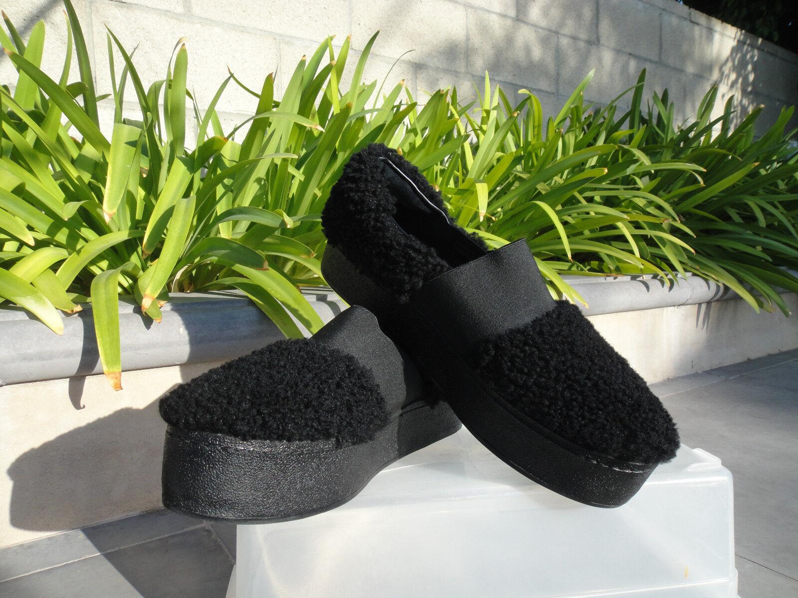 fornire un prodotto di qualità Opening Ceremony CICI CURLY SLIP SLIP SLIP ON Platform scarpe da ginnastica, nero Shearling EUR37  fino al 65% di sconto