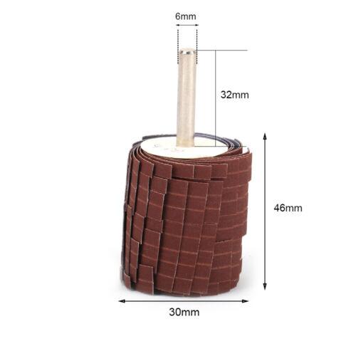 "30mm Emery Cloth Sandpaper Wire Grinding Abrasive Flap Wheel 1//4/"" Shank 80#~600#"