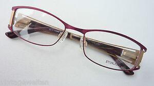 Brillenfassungen WunderschöNen Brille Markengestell Von Binde Zierbügel Damenbrille Stainlesssteel Grösse M Klar Und Unverwechselbar Damen-accessoires