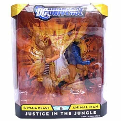 DC Universe Justice In The Jungle B'WANA BEAST & ANIMAL MAN Action Figure Set