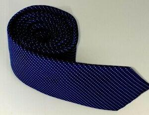 Saba-Men-039-s-Tie-100-Silk-Tie-Blue-White