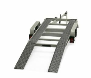OTTO-MOBILE-225-CAR-CARRIER-TRAILER-with-two-ramps-metal-1980-039-s-1-18th-scale