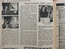 1976 South Middlesex TV Viewer(RUDI  GERNREICH/ANTHONY  HOPKINS/GENEVIEVE BUJOLD