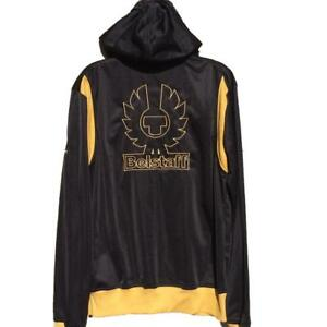 Up Sweatshirt Zip Top Track Extra Large Belstaff Jacket Logo Hooded BwXqxwtY