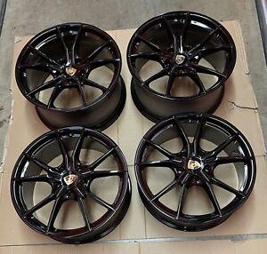 "OEM Porsche Cayman 982 Boxster 718 981 982 Carrera S  20"" Wheels Rims Set #3"
