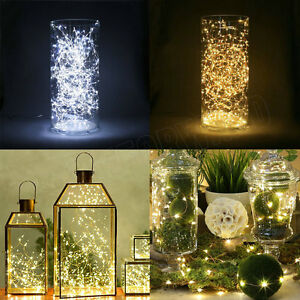 Micro Christmas Lights.Details About 1 M 10 Led Micro Wire String Fairy Party Xmas Wedding Christmas Light Decoration