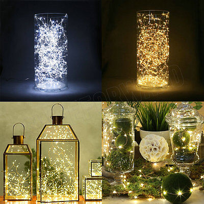 2M 20LED Button Cell Battery Powered Silver Copper Wire Mini Fairy String Lights