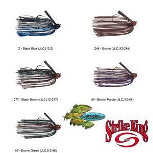Strike King Jig Living Rubber Mop Comeback 1//2oz Any 5 Color Baits JLCJ12