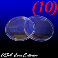 (10) Half Dollar Size Direct Fit Air-tite Coin Capsules [t30] Genuine - 30.6mm