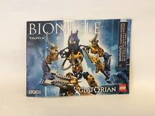 Lego Bionicle Tarix Glatorian 8981 * Instruction Manual Only
