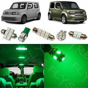 Details about 7x Green LED lights interior package kit for 2009-2014 Nissan  Cube NC1G