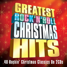 Greatest Rock N Roll Christmas Hits 40 CLASSIC SONGS Music HOLIDAY New 2 CD