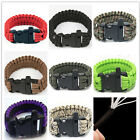 Bracelet Paracord Whistle Gear Flint Fire Starter Scraper Kits Outdoor o3