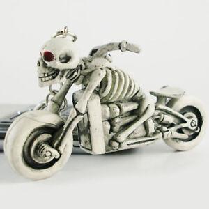 Moto-Biker-Punk-Calaveras-Cartera-Bolso-Llavero-De-Goma-Keyring-llavero-de-automovil-Regalo