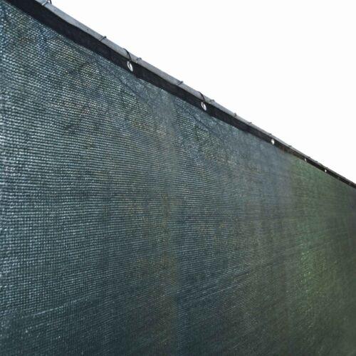 ALEKO Fence Privacy Screen With Grommets Outdoor Windscreen 4 x 50Ft Dark Green