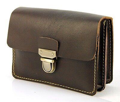 Men Vintage Genuine Leather Fanny Waist Purse Belt Bum Pack Pouch Cellphone Bag