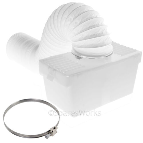 1 Metre Wall Mountable Condenser Box with Hose /& Clip for PROLINE Tumble Dryer