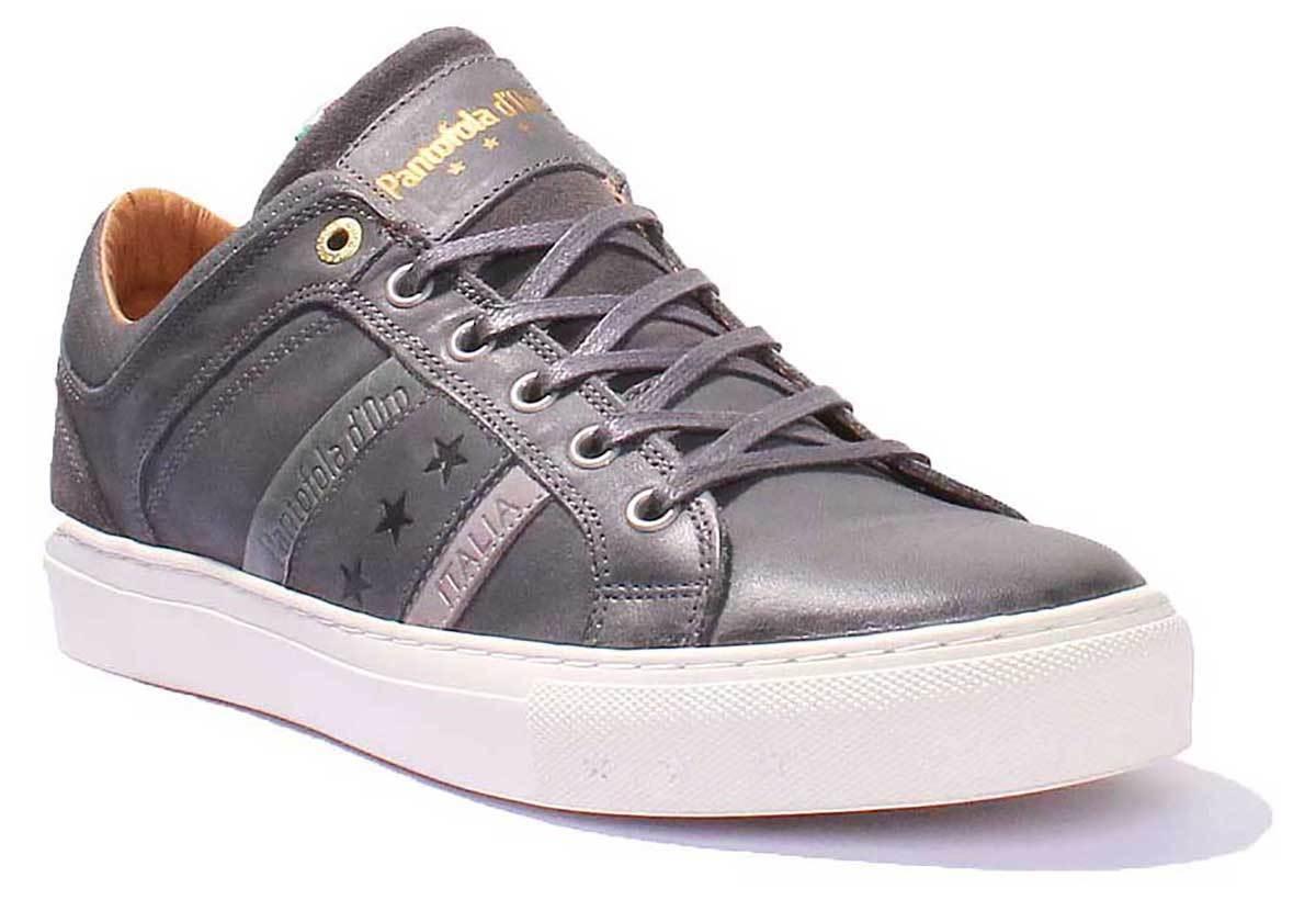 Pantofola dOro Monza Uomo Men Grau Leder Matt Sneakers